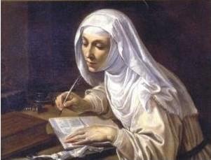 Catherine_of_Siena_writing