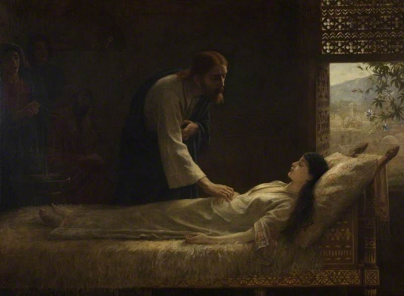 Long, Edwin, 1829-1891; The Raising of Jairus' Daughter