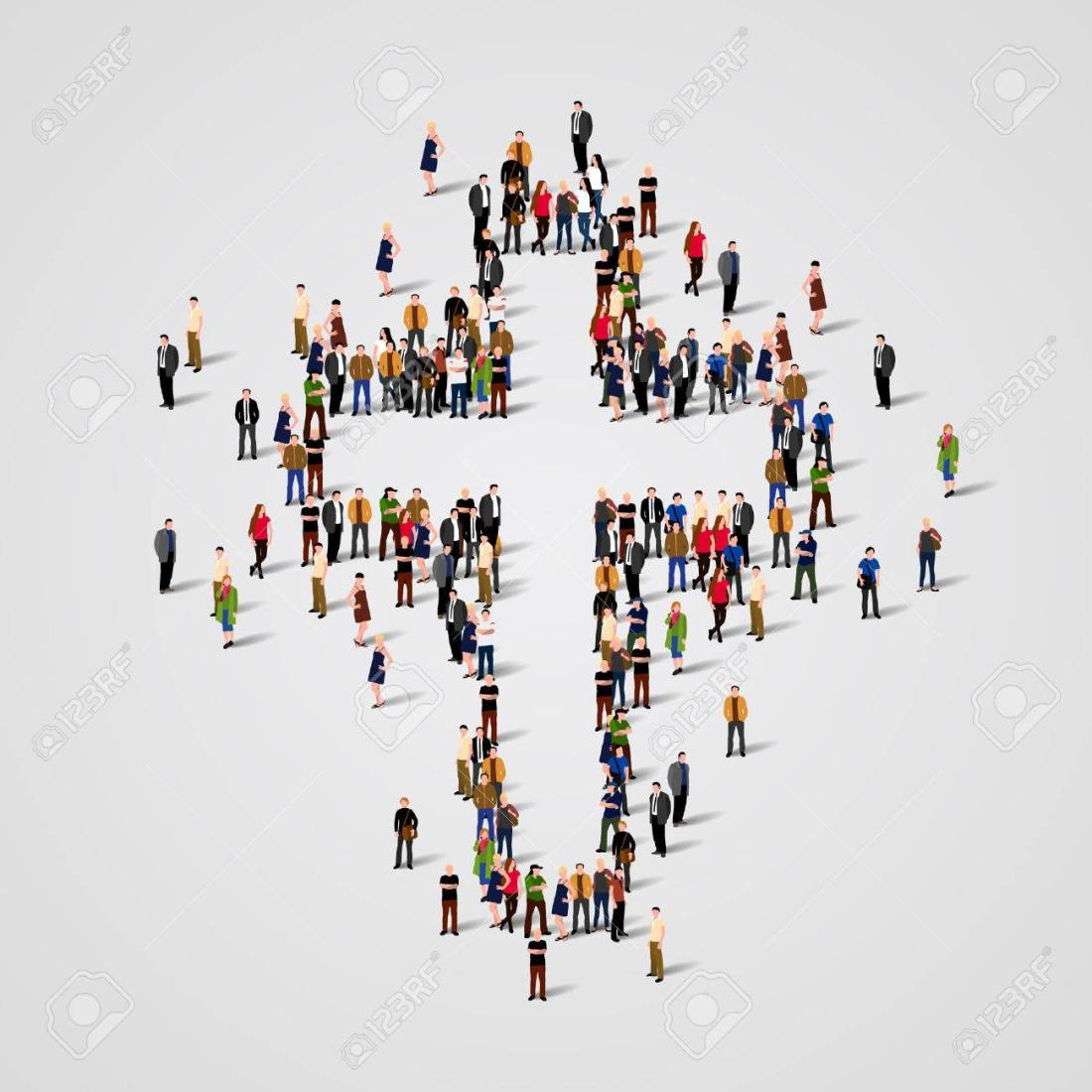 57806818-large-group-of-people-in-the-shape-of-cross-vector-illustration