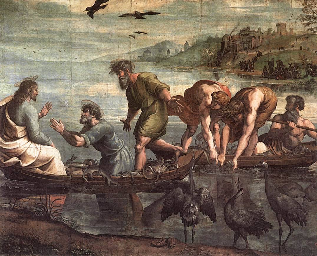 V&A_-_Raphael,_The_Miraculous_Draught_of_Fishes_(1515)
