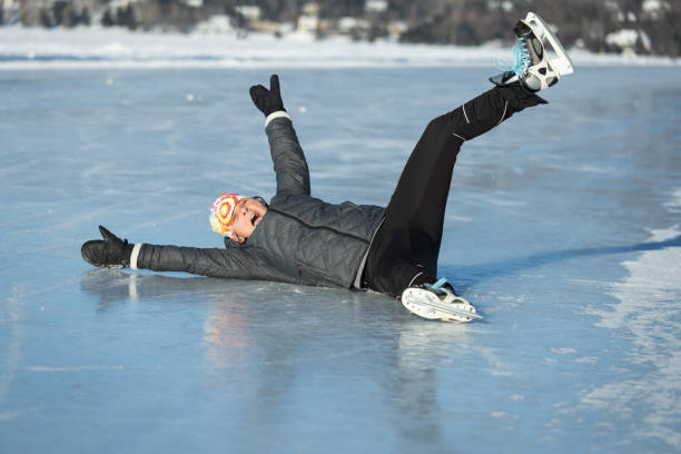 Skating on the frozen lake
